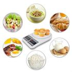 Plastic Electronic Digital Kitchen Weighing Scale with Lcd Screen (Color: White) (Pack of 1)