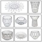 Anja Multipurpose Stainless Steel Wire Bowl Foldable Basket for Vegetable   Fruits   Dining (8 Shape)