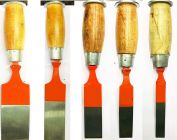 Ths Wood Working Chisel Set With Wooden Handle Grip For Home & Professional Use (Pack of 5)