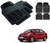After Cars Black Carpet Floor/Foot 4D Rubber Mats for Hyundai Xcent New Car