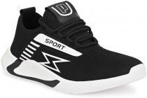 MOSHTO Men's Mesh Airmix Sports Running Shoes - Black