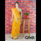 WACA Stylish & Trendy Saree With Chikan Embroidery which comes Inclusive of a Blouse Piece for Women's (Pack: Pack of 1) | (Color: Amber Yellow)