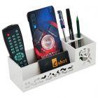 Cyalerva Acrylic Multifunctional Desk Organizer For Office & Home (White)