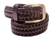 Stylish Casual Genuine Leather Belt for Men's (Tan)