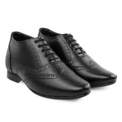 Bxxy's 3 Inch Height increasing Formal Leather Full Brogue Shoes for all occasion
