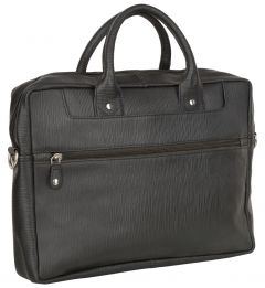 ASPENLEATHER Genuine Leather Laptop Bag Stylish For Men (Black)