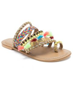 Multi Stripes Sandals | Perfect Pop of Chic | Comfort And Stylish Sandals
