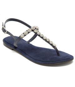 Silver Gems T-Bar Sandals | Flat Sandals From Pajika