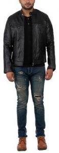 ASPENLEATHER Franchise Club Biker Jacket for Men's