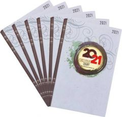 Toss 2021 A5 Diary 330 Pages Best Gift For Friends ^& Husband  (Multicolor) (Pack of 6)