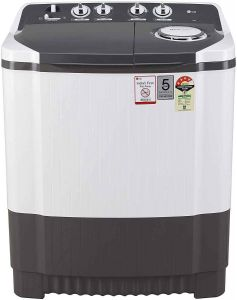 LG 7 Kg Capacity 4 Star Semi-Automatic Top Loading Washing Machine (P7020Ngay, Collar Scrubber)