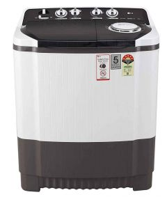 LG 7 Kg Capacity  Star Semi-Automatic Top Loading Washing Machine (P7010Rray Collar Scrubber) (Color: White/Grey)