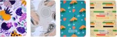 Toss Designer Notebook A6 Notebook 100 Pages (Multicolor) (Pack of 4)