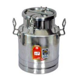 Aquiriosindia High Quality Stainless Steel Locking Milk Can/Milk Container/Milk Pot (10 Ltr)