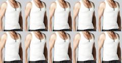 Men's 100% Daily wear White RN Undershirt Sleeveless Vest (Pack of 10)