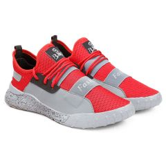 Bxxy Men's Casual Mesh Material Sports Shoes New Arrival All Occasions | Red/Grey