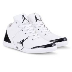 Trendy White Printed Synthetic Casual Shoes For Men
