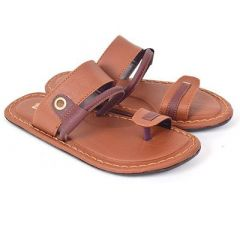 Fashionable & Stylish Solid Synthetic Slip-On Flip Flop Slippers For Men (Tan)
