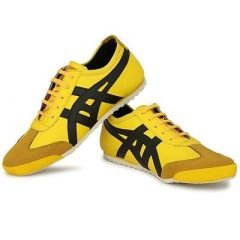 Mens Stylish Striped Trending Sneakers Shoes For Multipurpose Use (Yellow)