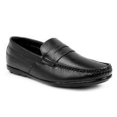 BXXY Men's Black Leather Office Wear Formal Black Shoes