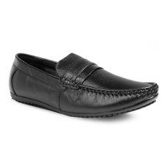 BXXY Men's Leather Office Wear Black  Formal Shoes