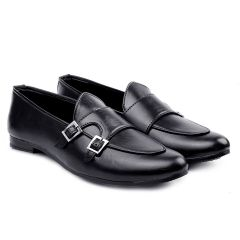 Bxxy Men's Casual Pu Leather Double Monk Loafer Style & Moccasins Shoes