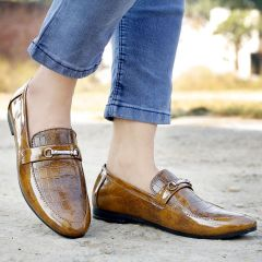 Bxxy Men's Tan Color Formal Pu Leather Loafer & Moccasins Shoes Style: 580
