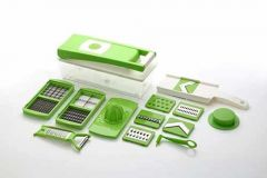 15 in 1 Fruit and Vegetable Graters Slicer juicer Chipser   Dicer   Cutter Chopper Upgraded Deluxe Model with Unbreakable Poly Carbonate body and Heavy Stainless Steel Blades  (Pack of 1)