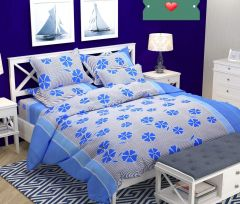 Tanishkam Decor Polyester & Polyester Blend 152TC Bedsheet (Queen_Multicolour)