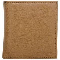 ASPENLEATHER Tan Genuine Leather Credit Card Holder For Men