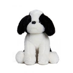 Apollo Toys By Shree Sai Durga | Soft and Cute White & Black Puppy Toy for Kids | Cute puppy toy | Attractive Design (Size-28 cm)