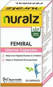 Nuralz Femiral Uterine Capsules | Vegetarian | Capsules (30)