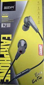 KDM K210 EXTR BASS Champ Earphone Clear Sound | Deep Bass (Pack of 1)