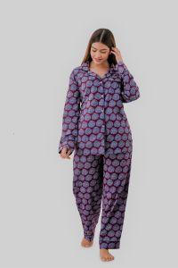 Kalrav Women Self Design Maroon Color Shirt & Pyjama set