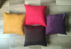 Tanishkam Home Decor Velvet Colourful Cushions Cover (16x16 Inch's) Set of 4 Zipper