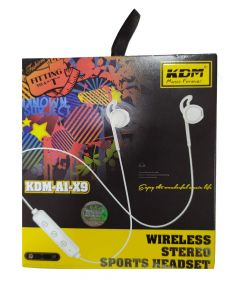 KDM A1 X9 Bluetooth/Wireless Stereo Sports Headset with Dynamic bass, Splash and Sweat Proof, up to 12hrs Battery