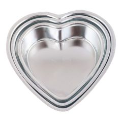 MME Heart Shape Aluminium Anodised Cake Mould with Primi Finish Made by Indian Machines 6 7 8 Inch