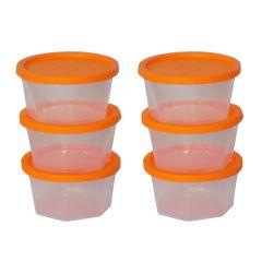 Plastic Container Set, 200ml, Set of 6