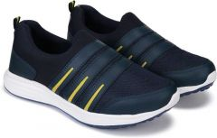 KrishnaEnt High Quality & Comfortable Casual Shoe For Mens Excellent for all kinds of Sports (Color: Black & Yellow)