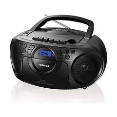 Toshiba Portable 240 Volts Cd Usb Radio Cassette Player Recorder Ty-Cku310 (Color: Black)