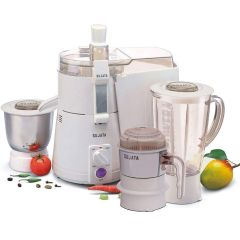 Sujata 900Watts Motor With Double Ball Bearings Juicer Mixer Grinder (Color: White)