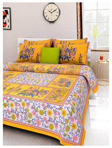 Rajasthani Bedsheets with Two Pillow Covers 01