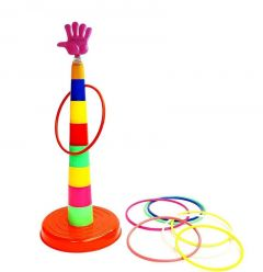 Plastic Rainbow Stacking Ring Toss Throw Game Toys For Kids (Pack Of 1)