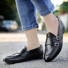 Bxxy Men's Style: 677A Casual Pu Leather Double Monk Loafer & Mocassins Shoe