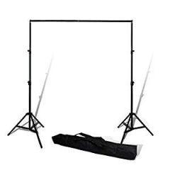 WON BRAND Photography Studio Setup 9 x 9 Ft. Background Stand Kit