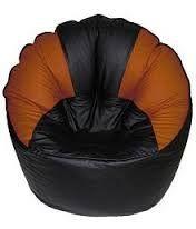 VSK Bean Bag Sofa Mudda Cover (Without Beans) Original Size Original Quality - Orange & Black