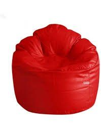 VSK Bean Bag Sofa Mudda Cover XXXL 35*35*15 Inch (Without Beans) - Red