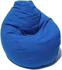 VSK Bean Bag Cover XXXL 50X28 Inch (Without Beans) Original Size and Quality - Blue