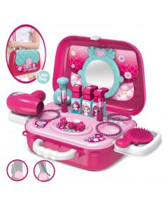MohitEnterprises | Toddler Toys 2 in 1 Play Beauty Set Pink - 17 Pieces