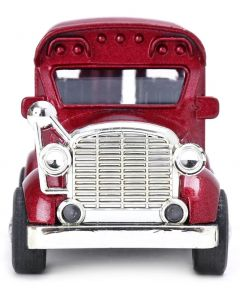 MohitEnterprises | Toddler Toys Pull Back Bus with Light & Sound - Maroon | Pack of 1